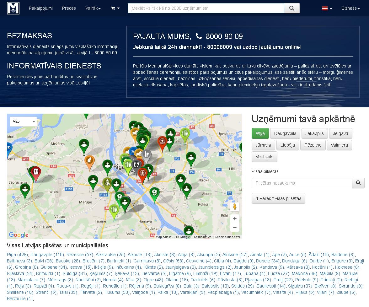 Memorial Services informācijas un tehniskā atbalsta dienests, 24h/7 Fotogalerija