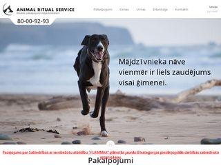 FLAMMAX Animal Ritual Service SIA Главная