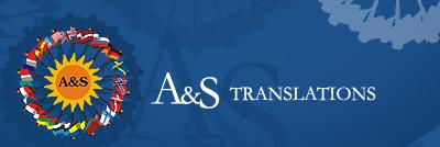 A&S SIA tulkošanas birojs Логотип