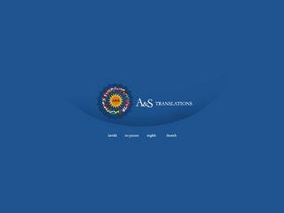 A&S SIA tulkošanas birojs webpage