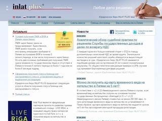 Inlat Plus juridiskais birojs webpage