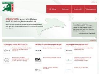 Eiroeksperts SIA webpage