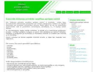 Aritas Prindules ģimenes ārsta prakse webpage