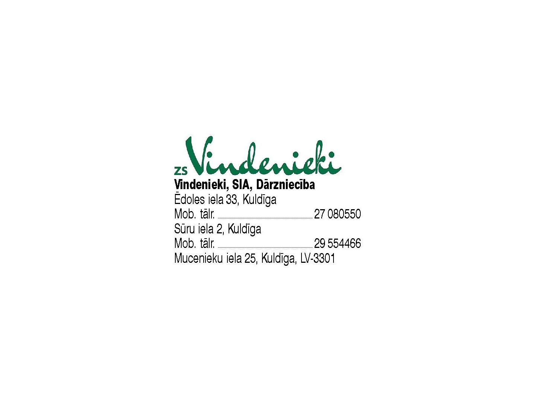 Vindenieki SIA Dārzniecība Logo