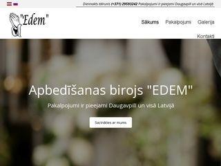 EDEM apbedīšanas birojs Mājaslapa