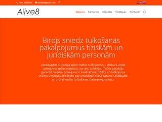 Alinas Ikaunieces tulkošanas birojs Alive8 Homepage