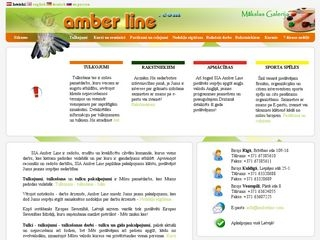 Amber Line SIA webpage