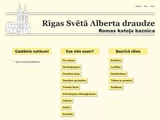 Rīgas Svētā Alberta Romas katoļu baznīca Homepage
