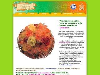 Elizete, ziedu galerija, SIA Главная