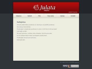 Julata, kafejnīca webpage