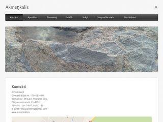 Arnis Lūsiņš, akmeņkalis Galvenā
