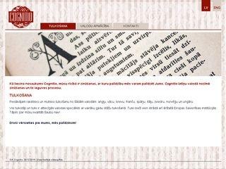 Cognitio SIA tulkošana webpage