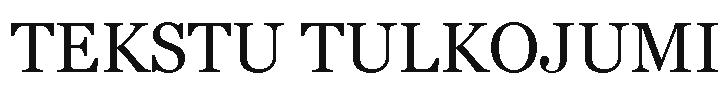 Ilze Skromule, tulks, pašnodarbināta persona Логотип