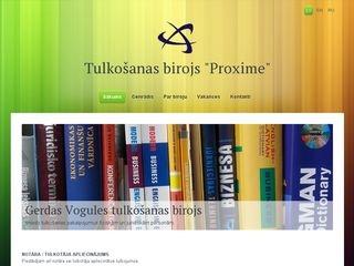 Proxime, tulkošanas birojs Mājaslapa
