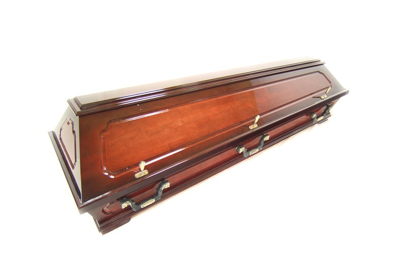 Dark brown sarcophagus- casket  -