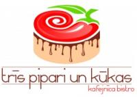 Trīs pipari un kūkas SIA Agne 97 kafejnīca Logo