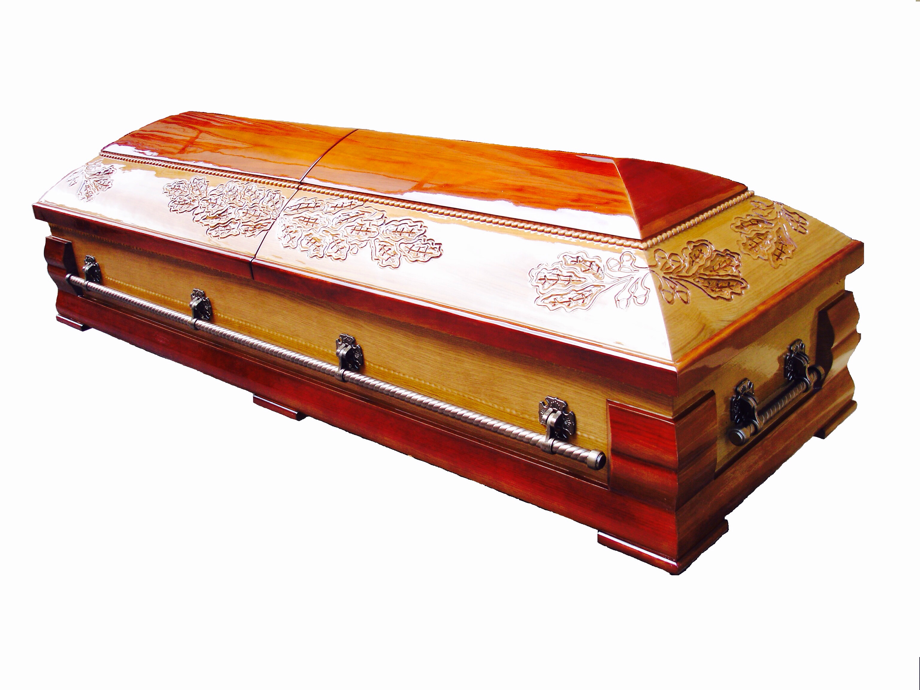 Zārks - sarkofāgs ar ozollapām