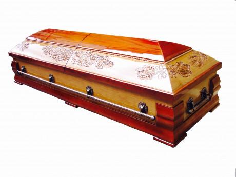 Zārks - sarkofāgs ar ozollapāmSarcophagus- casket with oak leaves