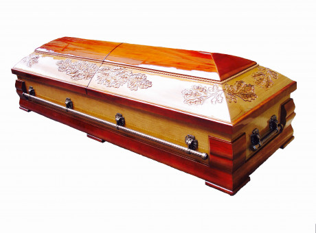 Sarcophagus- casket with oak leaves