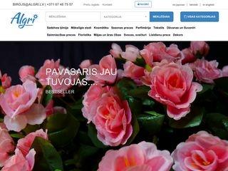 Algri, SIA, mākslīgo ziedu tirdzniecība Galvenā