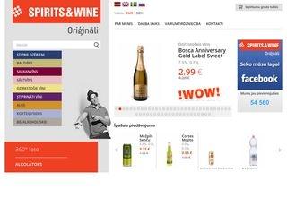 Spirits&Wine alkoholisko dzērienu tirdzniecība un vairumtirdzniecība Galvenā