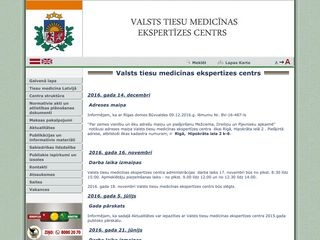 Valsts tiesu medicīnas ekspertīzes centrs Daugavpilī Mājaslapa
