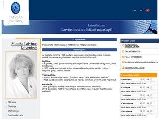 Kurzemes apgabaltiesas zvērināts notārs Monika Laiviņa-Laiveniece Mājaslapa
