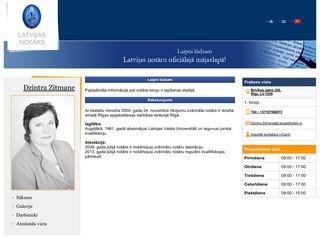 Rīgas apgabaltiesas zvērināts notārs Dzintra Zitmane webpage