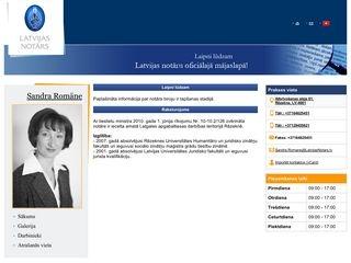 Latgales apgabaltiesas zvērināts notārs Sandra Romāne Mājaslapa