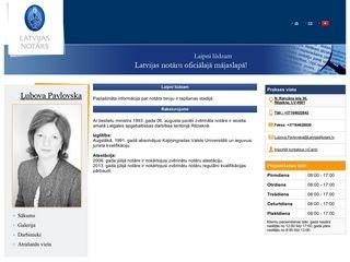 Latgales apgabaltiesas zvērināts notārs Ļubova Pavlovska Mājaslapa