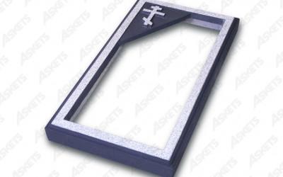 Kapu apmale vienvietīga, atvērta, ar pareizticīgo krustu / Надгробие одиночное, открытое, c православным крестом