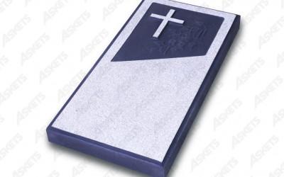 Kapu apmale vienvietīga, slēgta, ar katoļu krustu / Надгробие одиночное, закрытое, с католическим крестом