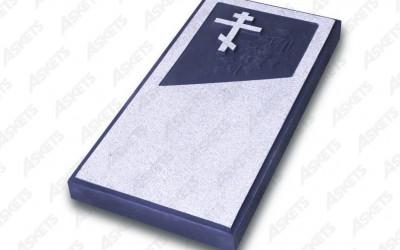 Kapu apmale vienvietīga, slēgta, ar pareizticīgo krustu / Надгробие одиночное, закрытое, с православным крестом
