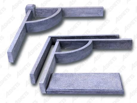 Kapavietas apmales betona