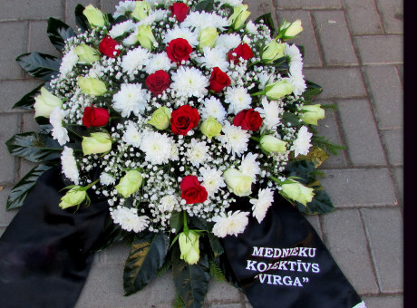 Funeral wreath with roses