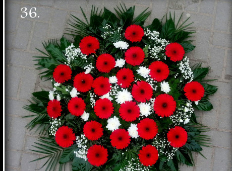 Funeral wreath with gerberas