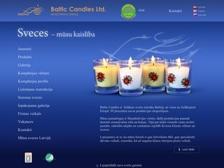 Baltic Candles Ltd Galvenā