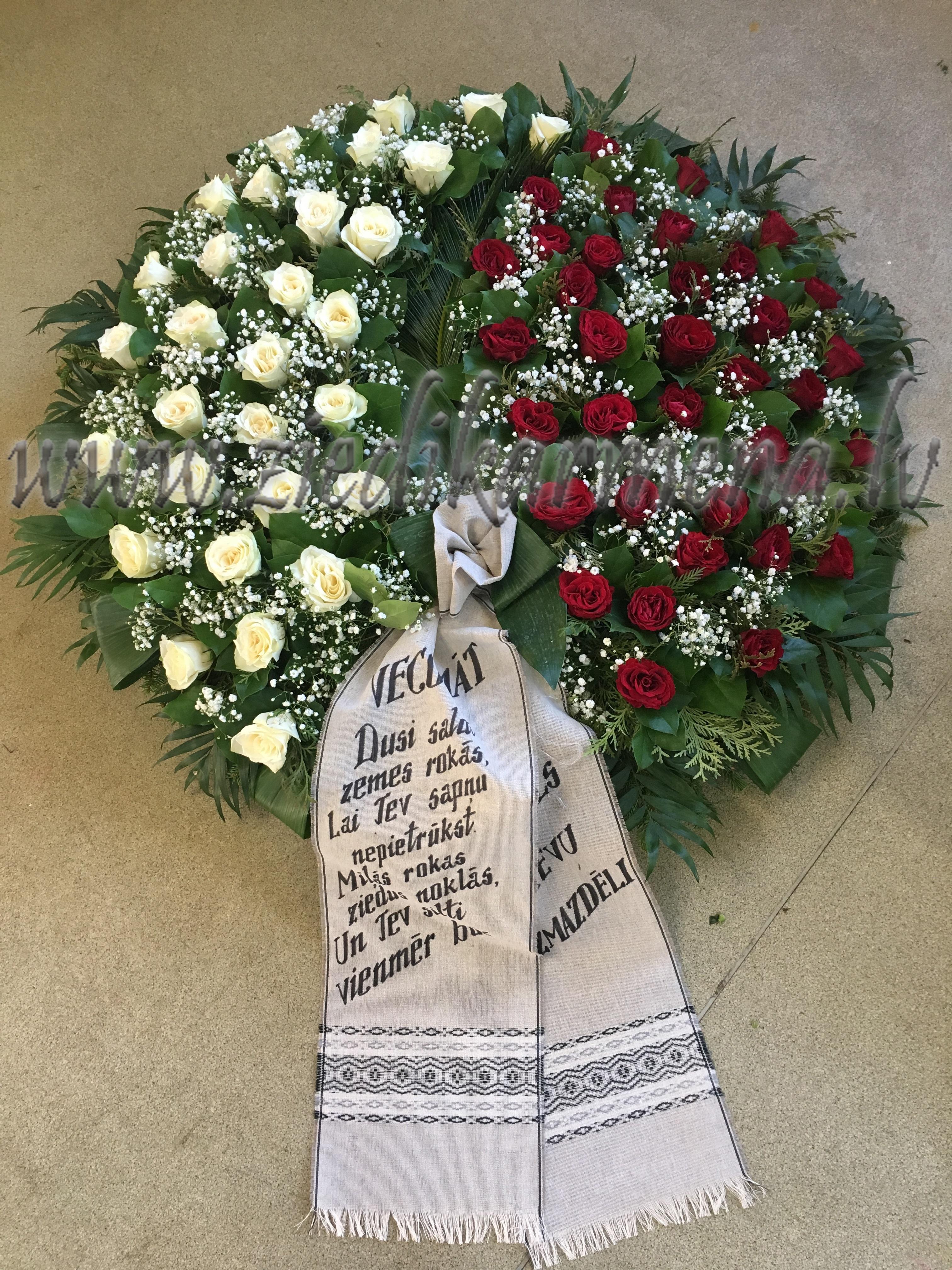 Похоронный венок -