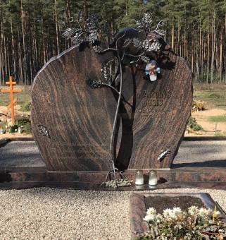 """Kapu piemineklis no zviedrijas granīta """"Aurora"""""""