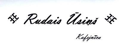 Rudais Ūsiņš kafejnīca Logo