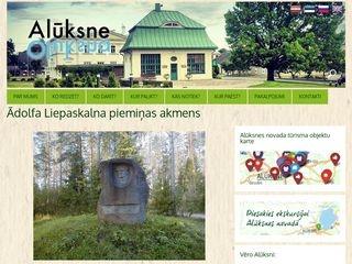 Ādolfa Liepaskalna piemiņas akmens webpage