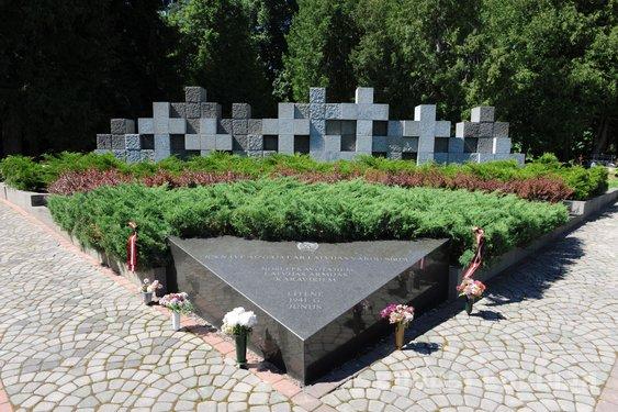 Latvijas Republikas armijas piemiņas vieta Logo