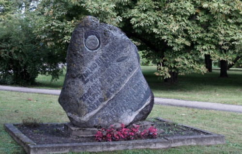 Piemiņas akmens zemgaļu aiziešanai no Dobeles