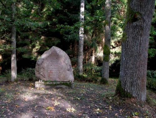 Piemiņas akmens ģenerāļa Jāņa Baloža brigādes kaujas vietā