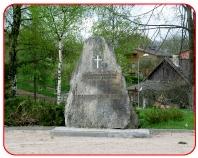 Piemiņas akmens represētajiem Kandavā Logo