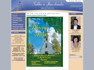 Saldus Sv. Jāņa evaņģēliski luteriskās draudzes baznīca Mājaslapa