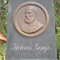 Jāņa Cimzes piemineklis un kapi Logo