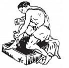"""""""Pieminekļu darbnīca"""", Gunārs Kodis Logo"""