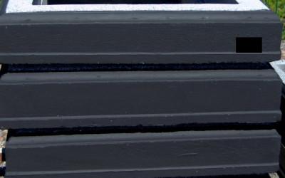 vienvietīgā apmale- krāsotā(melnā)