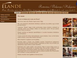 Ēlande, restorāns Homepage